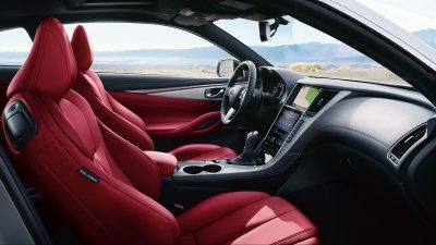 INFINITI Q60 Sporty Coupe Technology Red Sport Driver Seat Overview