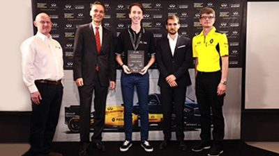 INFINITI GIVES AUSTRALIAN STUDENT THE FORMULA ONE™ CAREER OPPORTUNITY OF A LIFETIME