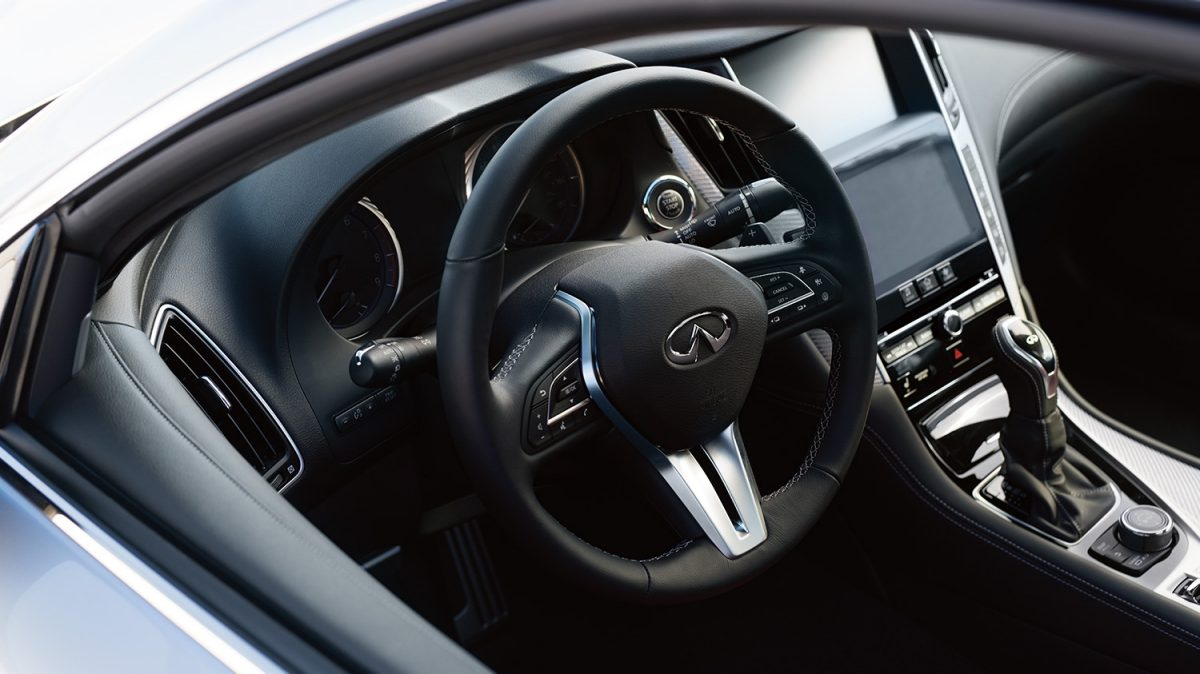 INFINITI Q60 Sporty Coupe Performance Interior Steering Wheel