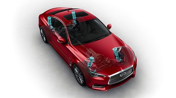 INFINITI Q60 Sporty Coupe Performance Dynamic Digital Suspension Red