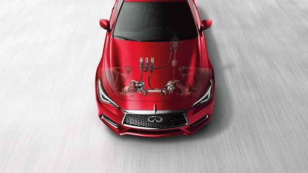 INFINITI Q60 Sporty Coupe Performance Direct Adaptive Steering Red