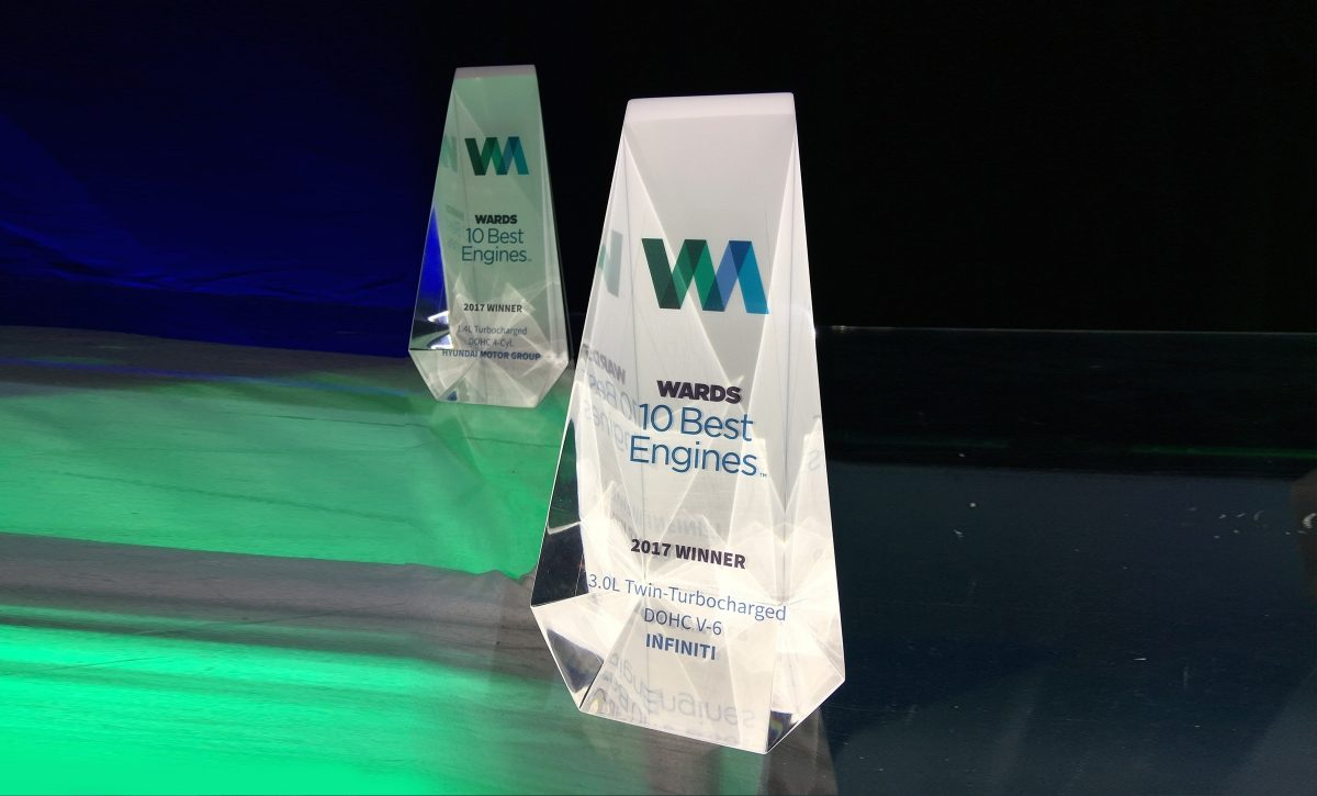 INFINITI recognized at the Wards 10 Best Engines Awards 2017