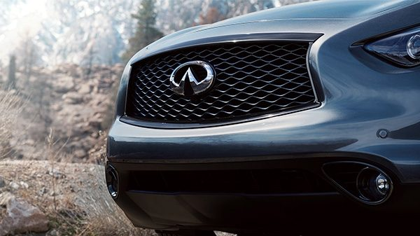INFINITI QX70 Crossover SUV Exterior Front Double Arch Grille Thumb