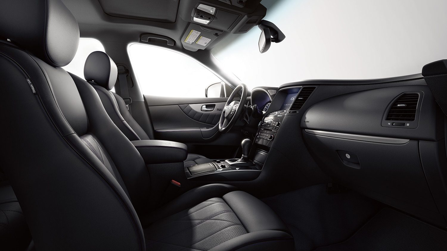 INFINITI QX70 Crossover SUV Interior Front Seat Space Overview