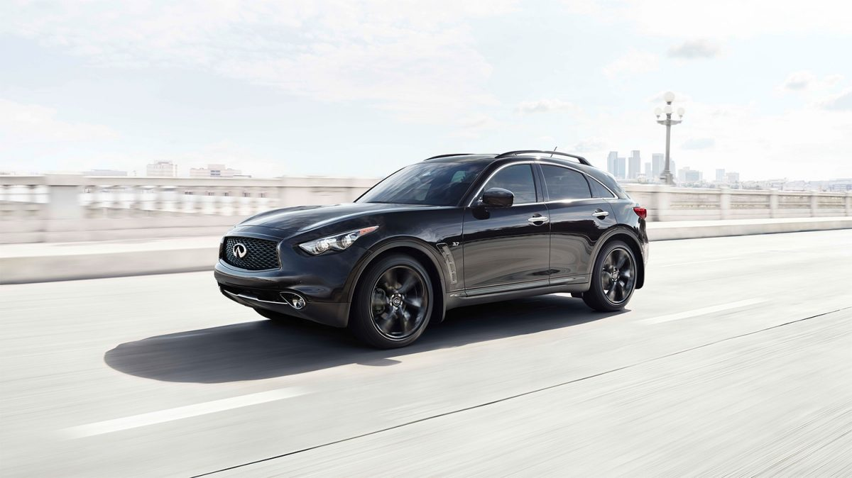 INFINITI QX70 Crossover SUV Exterior Design Overview On Bridge