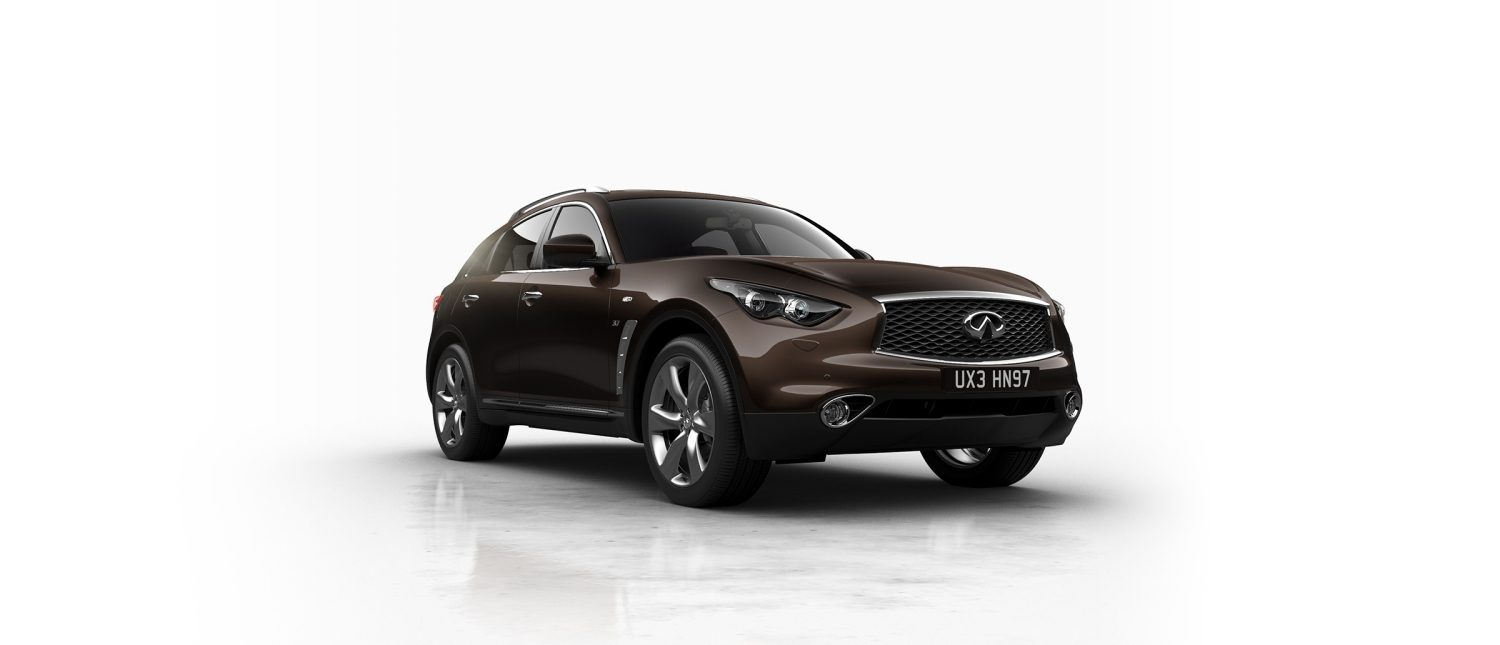 INFINITI QX70 Crossover SUV Exterior Color Option Midnight Mocha