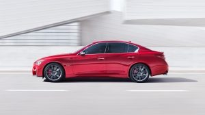 2018 INFINITI Q50 Red Sport Sedan Side Profile Red