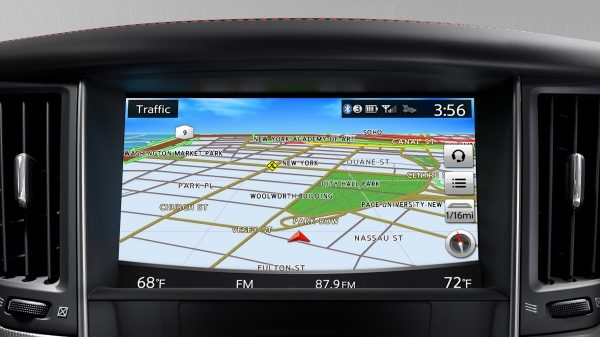2018 INFINITI Q50 Sports Sedan Connectivity InTouch Map Screen