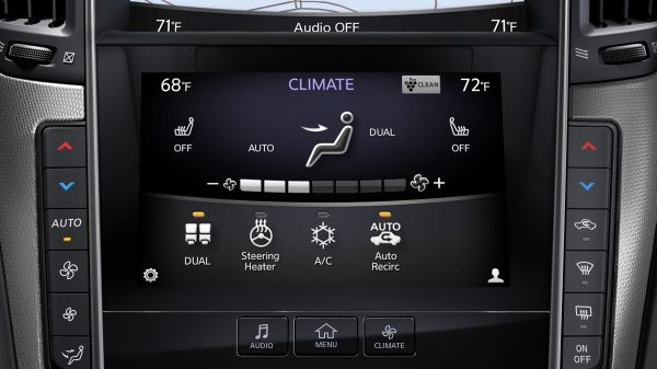 2018 INFINITI Q50 Sports Sedan Connectivity InTouch Climate Settings