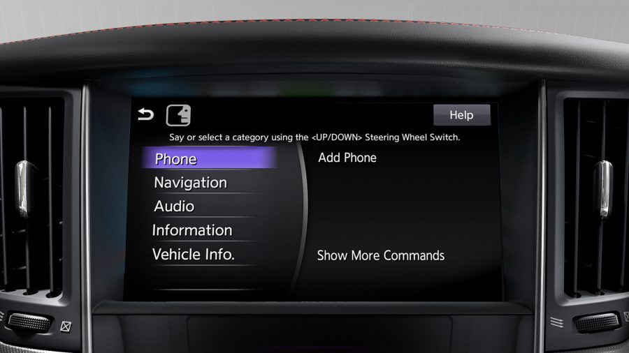 2018 INFINITI Q50 Sports Sedan Connectivity InTouch Voice Settings