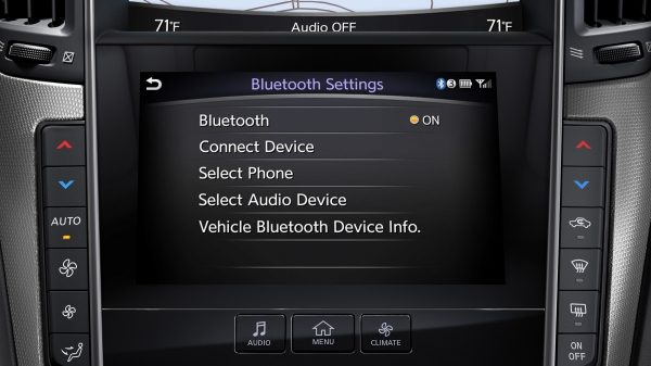 INFINITI Q50 Sports Sedan InTouch Connectivity Bluetooth Settings