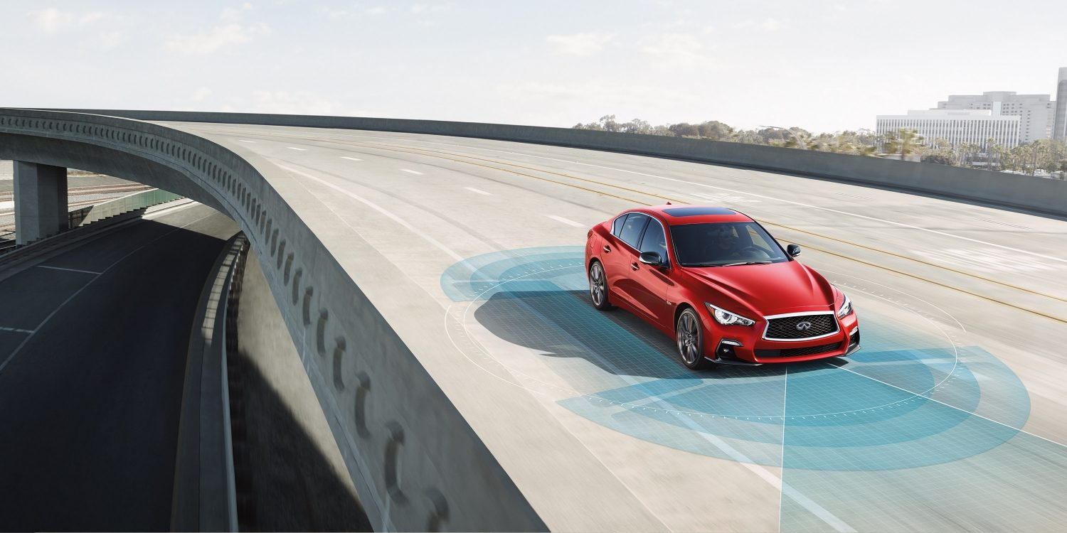 2018 INFINITI Q50 Red Sport Sedan Safety | Drive Assist Technologies