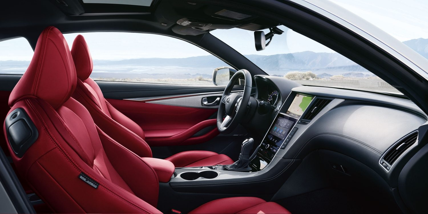 2018 Infiniti Q60 Red Sport 400 Coupe Interior Details