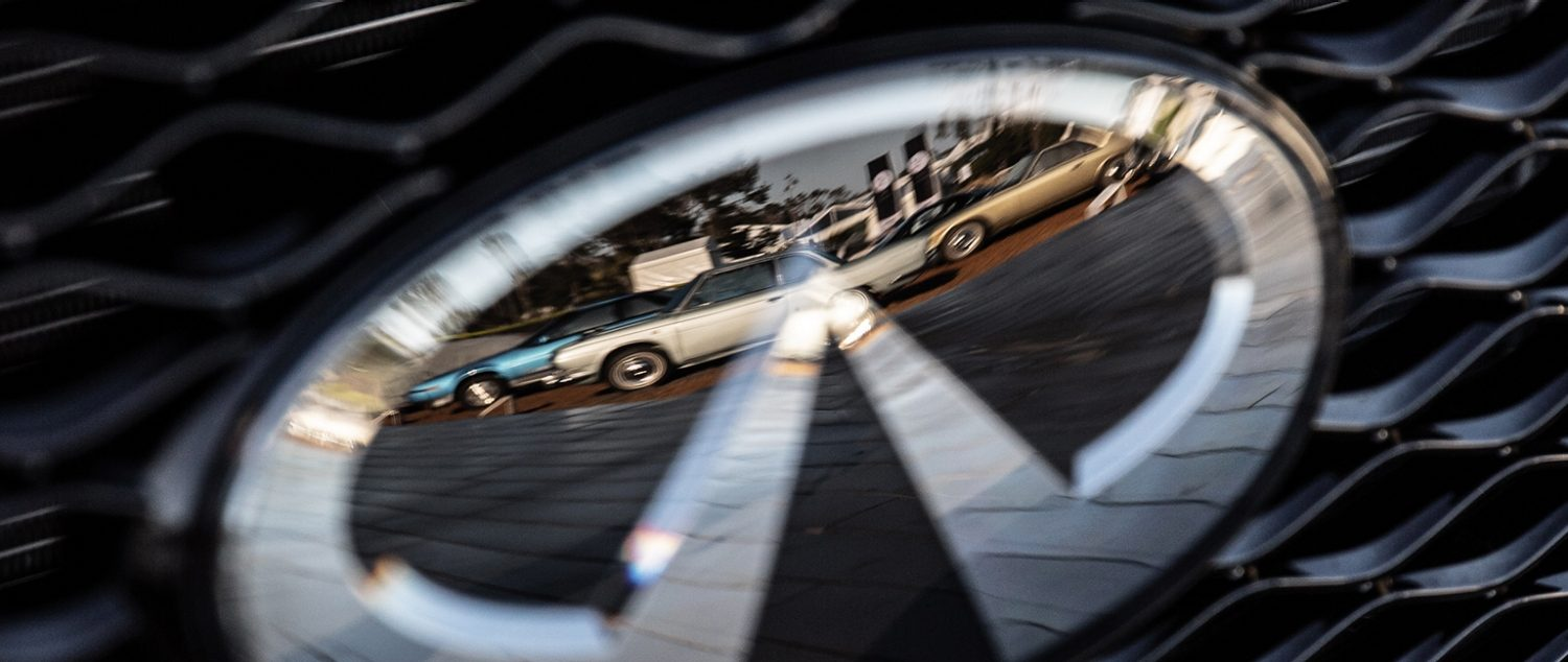INFINITI's 30th Anniversary | INFINITI Logo Reflection at the 2019 Pebble Beach Concours d'Elegance