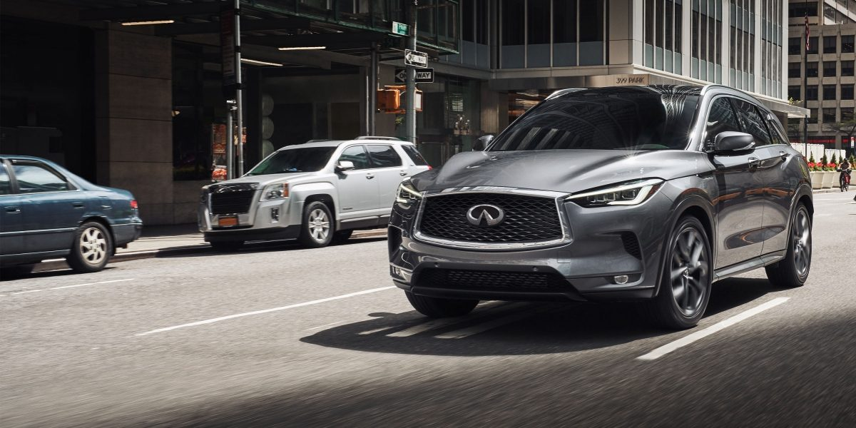 2020 INFINITI QX50 Side And Front View Driving On Road