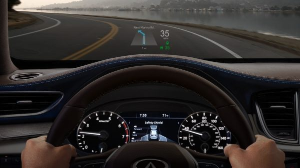 2019 INFINITI QX50 Luxury Crossover Heads Up Display