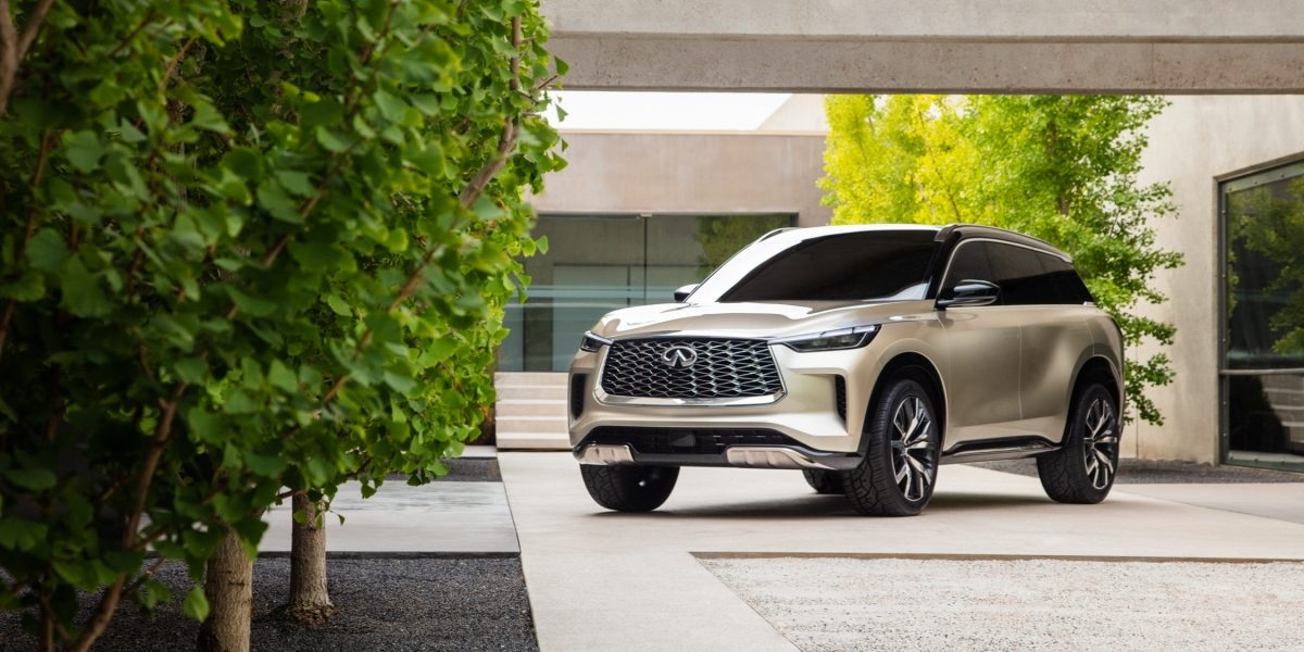 Front profile of the INFINITI QX60 Monograph crossover