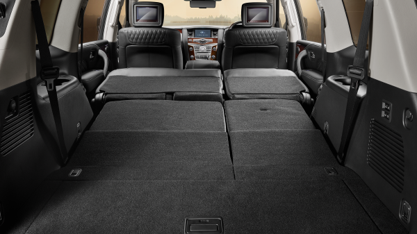2018 INFINITI QX80 Luxury SUV Interior Expanded Cargo Options Includes 95.1 Cubic Feet of Cargo Space