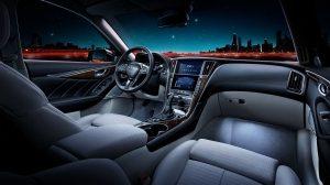 2018英菲尼迪Q50L烈焰紅側面車圖