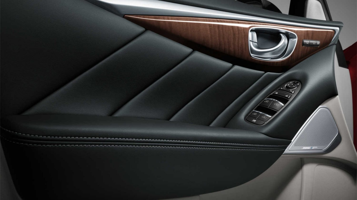 2018 INFINITI Q50 Red Sport Sedan Design Gallery | Rear Seating