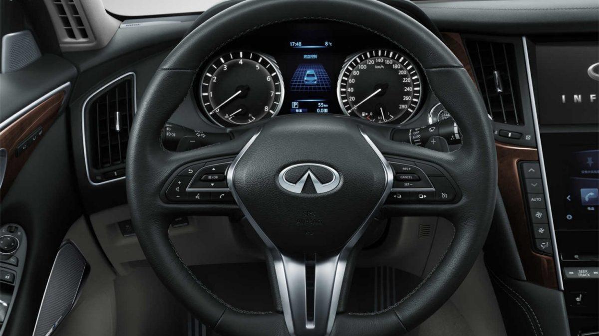 2018 INFINITI Q50 Red Sport Sedan Design Gallery | Steering Wheel  Controls