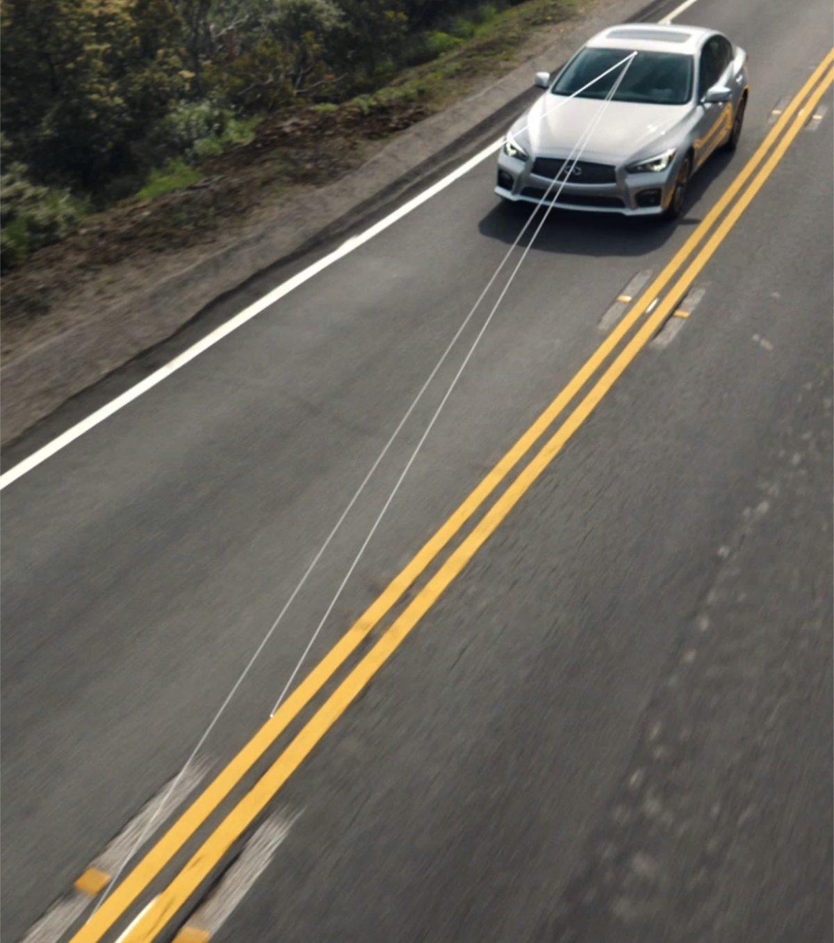英菲尼迪Q50 主动车道控制系统