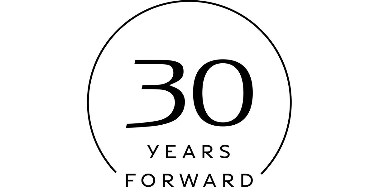 30 YEARS FORWARD LOGO