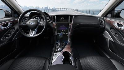 2018 INFINITI Q50 Red Sport Sedan Design | Semi-Aniline Leather-Appointed Sport Seats