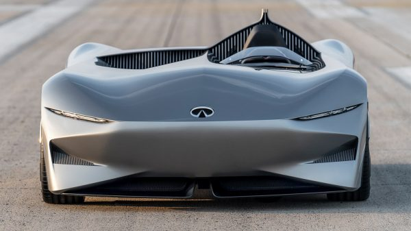 Infiniti Prototype 10 Concept Car Front View Zoom In Shot