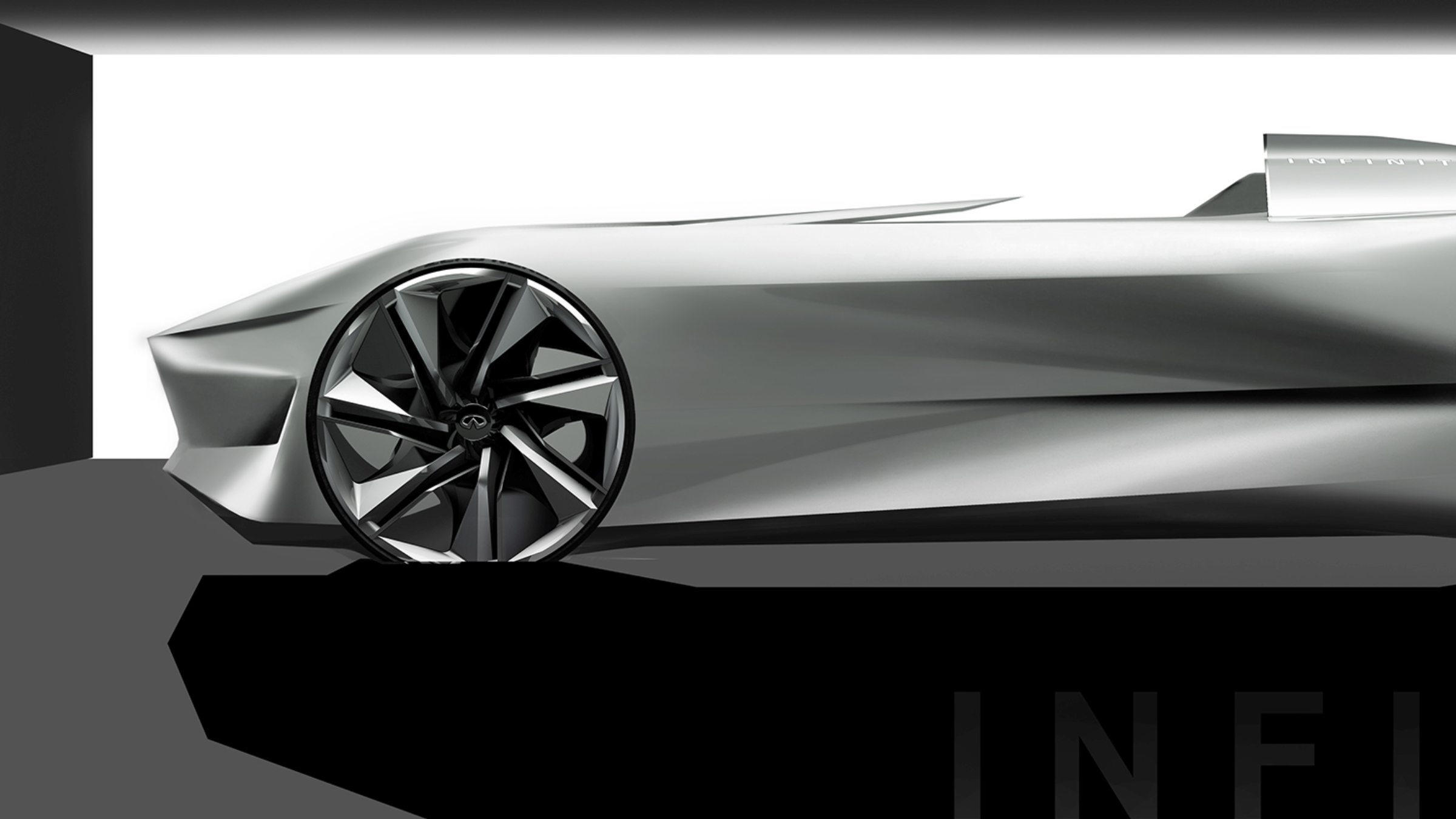 Infiniti Prototype 10 Concept Car Head Part Design Dark Shot