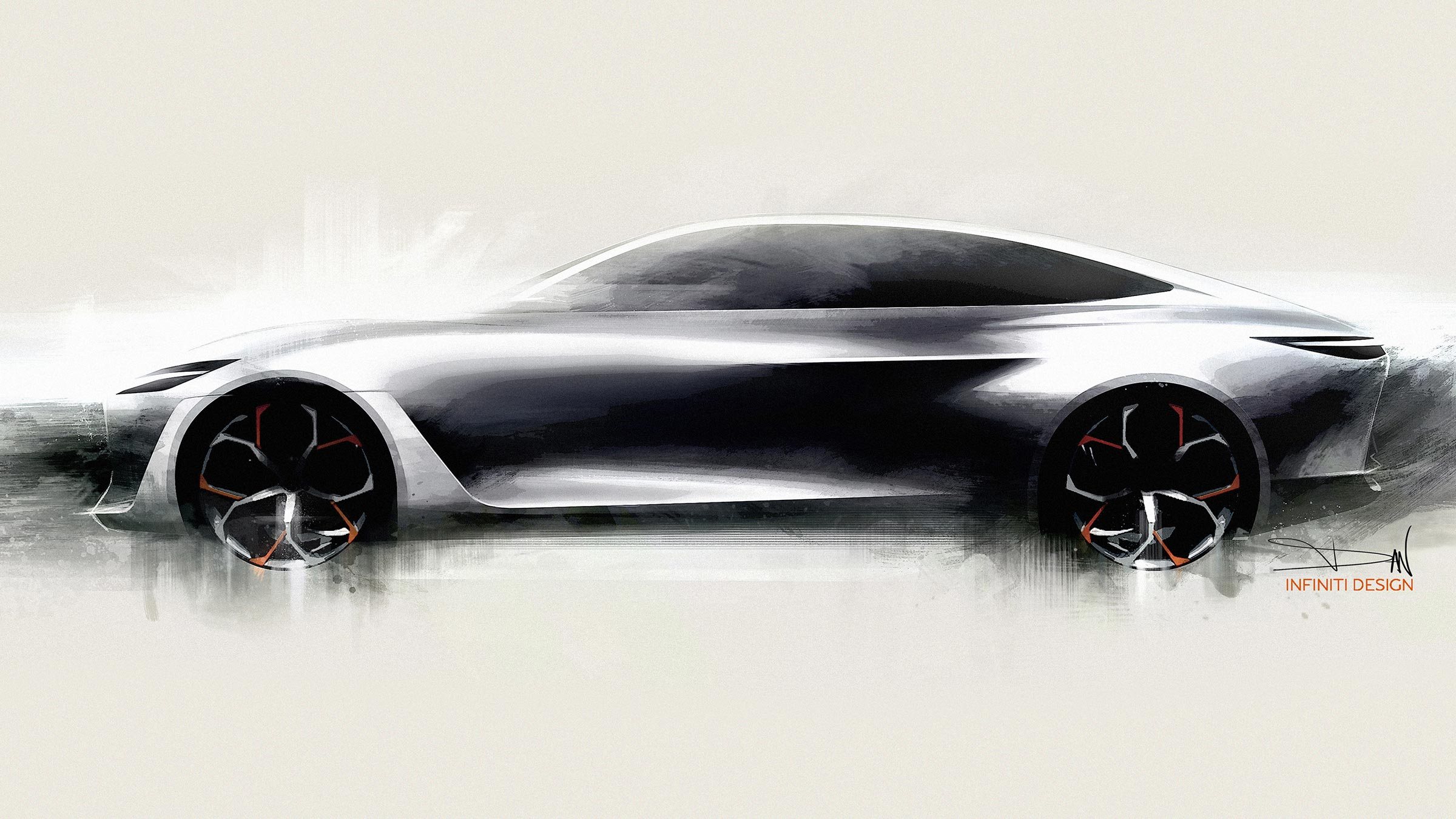 INFINITI Q Inspiration Sedan Conceptual Drawing