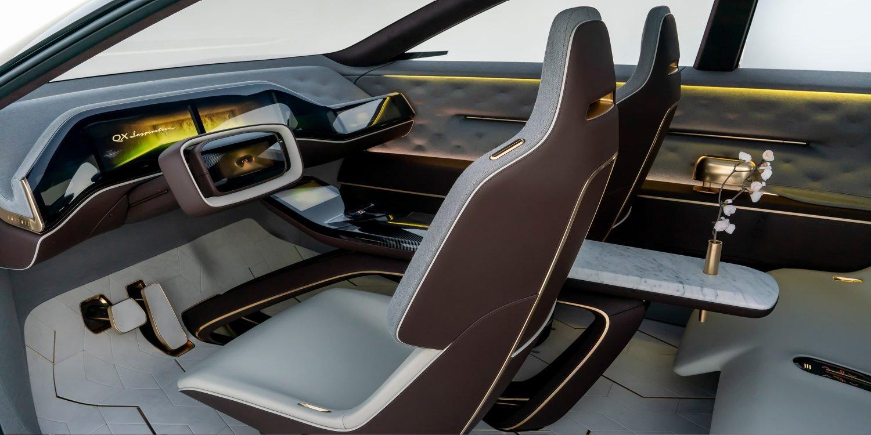 Infiniti QX Inspiration drivers interior view