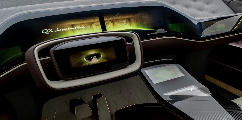 Infiniti QX Inspiration steering wheel
