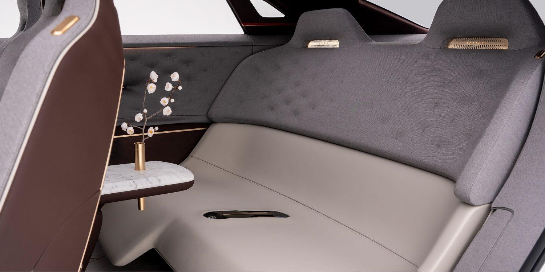 Infiniti QX Inspiration close up rear seats