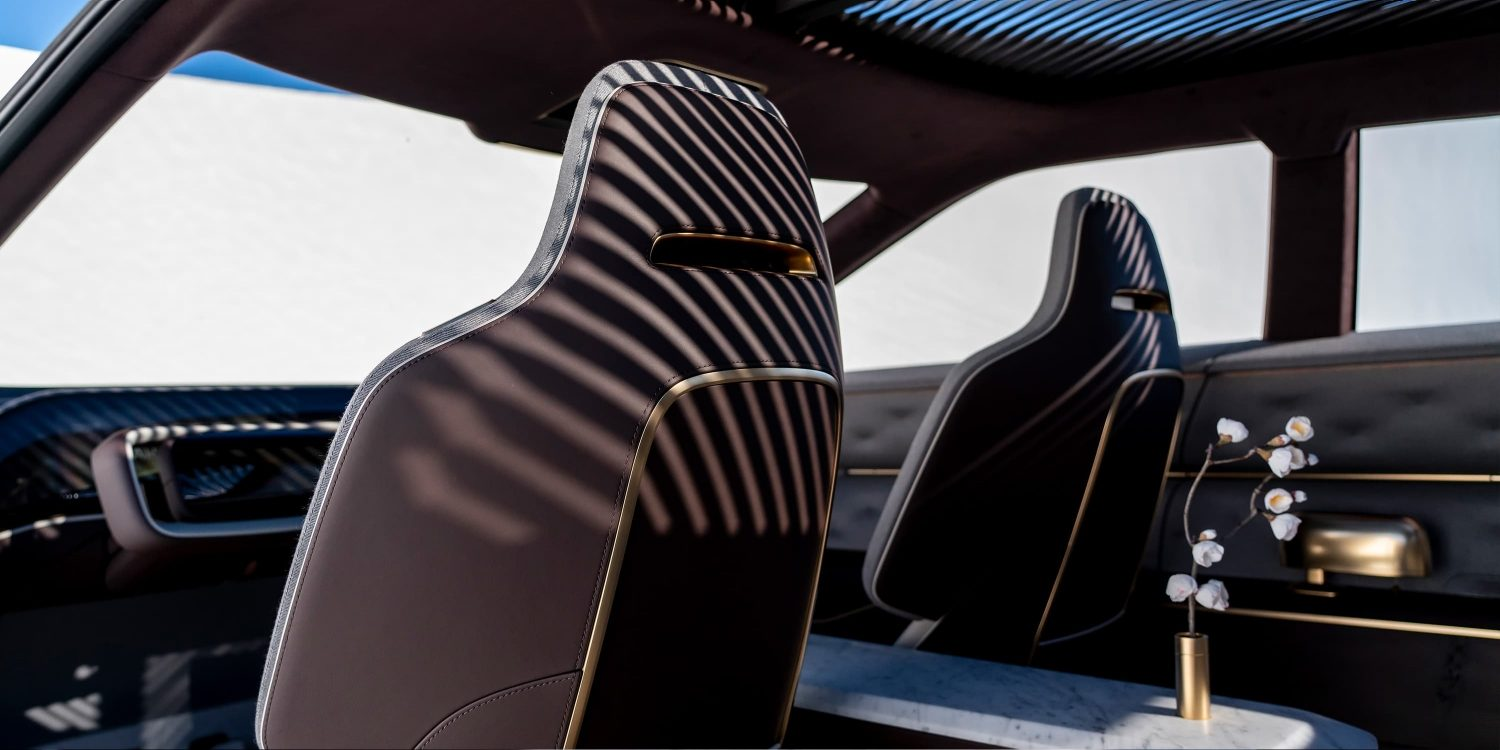 Infiniti QX Inspiration seats close up