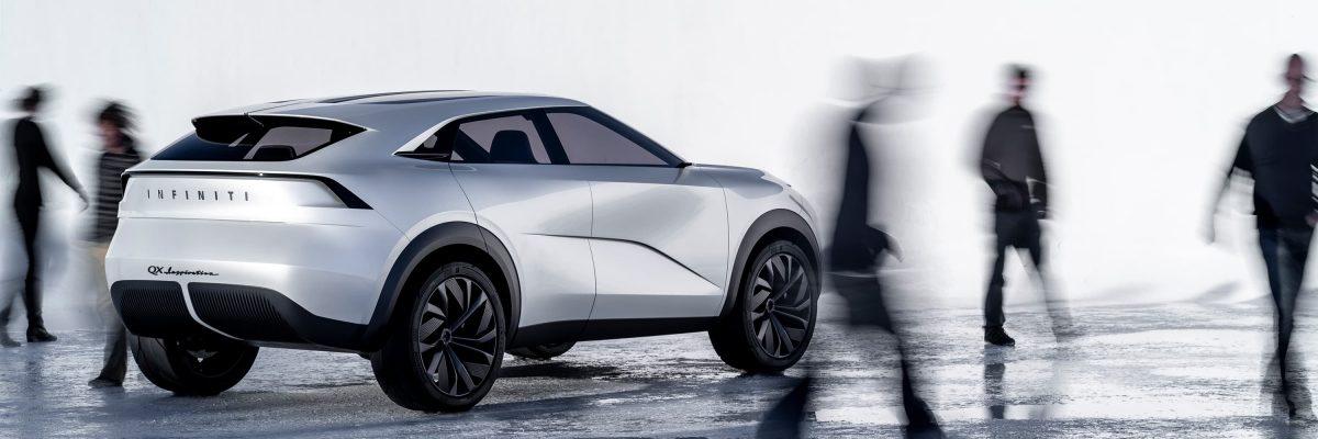 Infiniti QX Inspiration Electric Car Silver