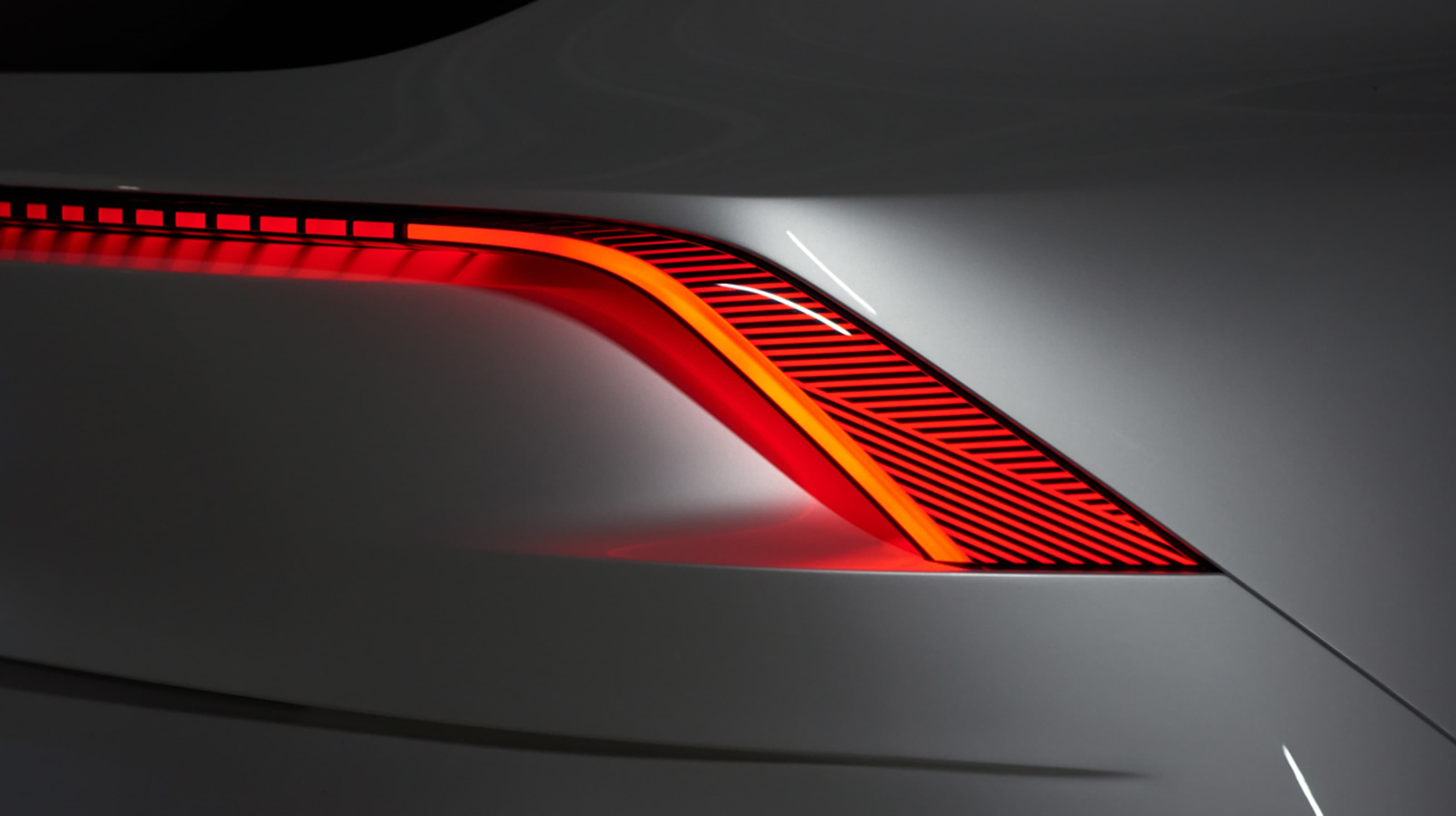 Infiniti QX Inspiration close up rear brake lights