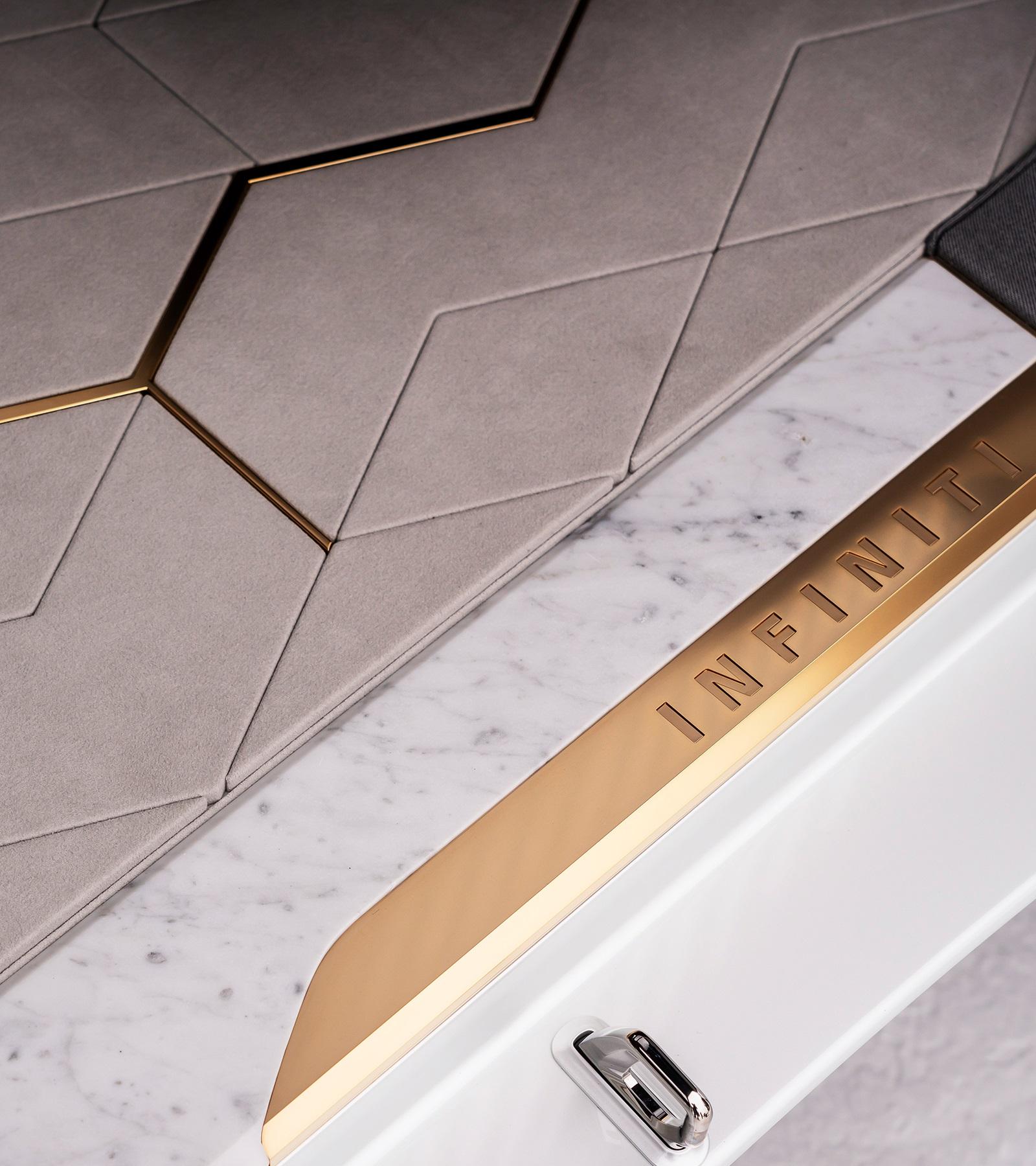 Infiniti QX Inspiration close up door well