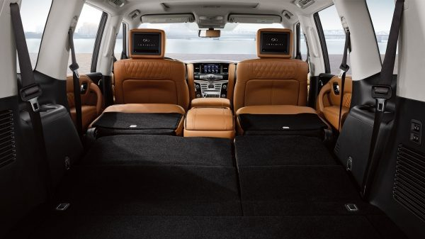 2018 INFINITI QX80 SUV Interior | Rear Stowage Capacity of 95.1 Cubic Feet of Space