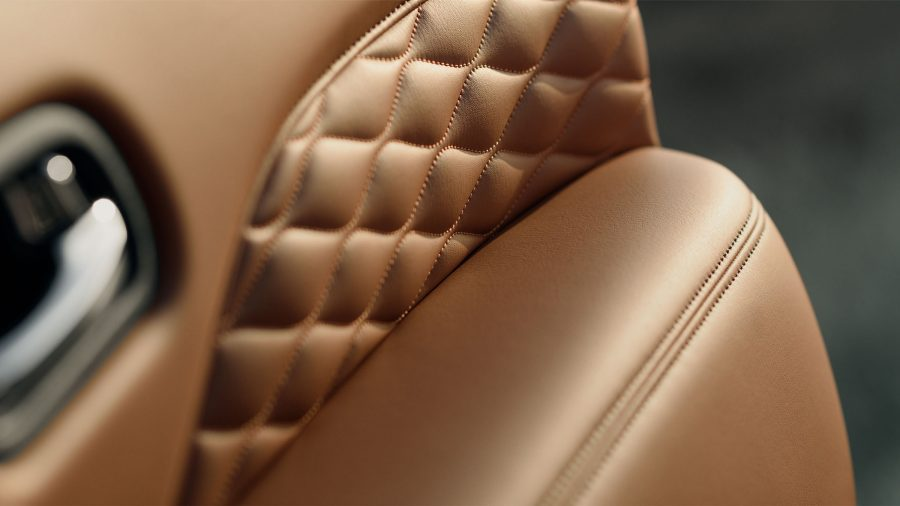 2018 INFINITI QX80 SUV Interior | Luxurious Quilting and Stitching in Saddle Brown Leather