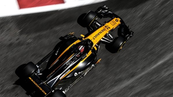 Nico Hulkenberg in the Renault R.S.17 Renault Sport Formula One Car on Track for the 2017 Austrian Grand Prix